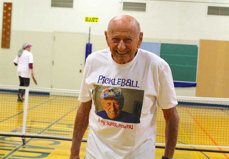 REVIEW PHOTO: SAM STITES - George Kent, 97, is an engineer and World War II veteran. He plays pickleball three times a week and kayaks in the summer.