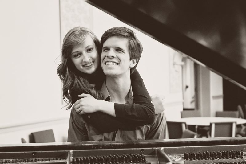 COURTESY: HAILEY POTTS - Pianists Mac and Hailey Potts met each other at Ten Grands 10 years ago, and their musical journey includes many more Ten Grands events, matrimony and soon-to-be parenthood. They'll continue to pursue music careers; Hailey teaches and Mac tunes pianos.