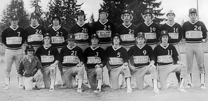 SUBMITTED PHOTO - The 1980 St. Helens baseball team may have won a lot of games, but hampered by the technology of its era, hit only three home runs as a team.