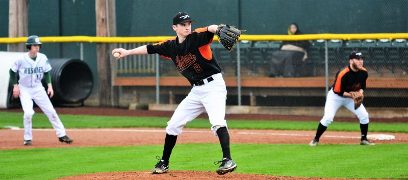 SPOTLIGHT FILE PHOTO - Scappoose senior pitcher J.C. Gross pitched a complete game in his team's 4-3 loss at Newport on March 24.