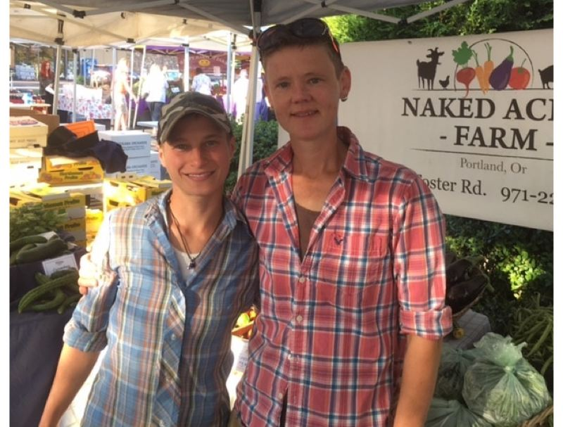 SUBMITTED PHOTO - Gus and Margo Liszka have been a staple at Portland-area farmers markets for the past six years.
