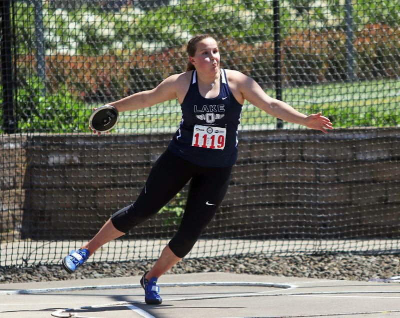 REVIEW FILE PHOTO - Lake Oswego sophomore Ava David stepped up to win a Class 6A state title in the discus last year and promises to be better in both discus and shot put this season.
