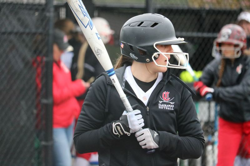 PAMPLIN MEDIA: JIM BESEDA - Through nine games, Clackamas' Kaelyn Lawrence is batting .355 with two doubles, one triple, a homer, four RBIs, and 14 runs scored hitting in the leadoff spot for the Cavaliers (7-2).