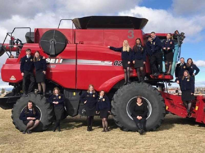 SUBMITTED PHOTO: PATTY ABELL - Canby FFA chapter took 14 members to the Oregon FFA State Convention March 23-26 in Redmond, Oregon.