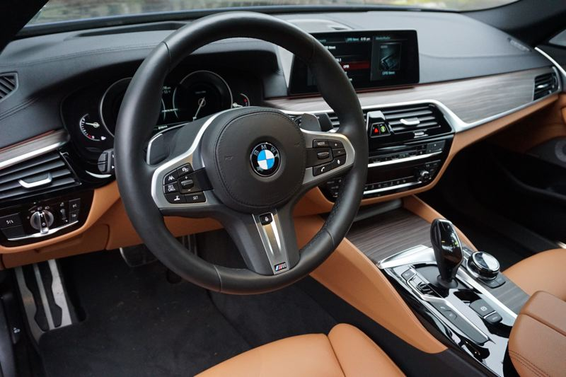 PORTLAND TRIBUNE: JEFF ZURSCHMEIDE - BMW has brought an amazing amount of tech to the M550i. You can get night vision assistance with pedestrian detection, a head-up display, and a full active driving assistance suite that will gently keep the car in your selected lane and manage speed control for you.
