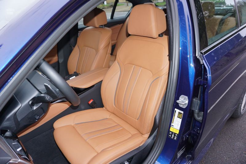 PORTLAND TRIBUNE: JEFF ZURSCHMEIDE - BMW's best front seats adjust in 20 ways, including four ways of lumbar support. The leather is the softest and smoothest on the market and of course all the seats are heated.