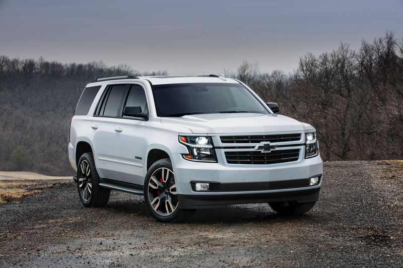 COURTESY CHEVROLET - The 2018 Chevy Tahoe RTS drives as great as it looks, and has plenty of room for large families and all their geat.