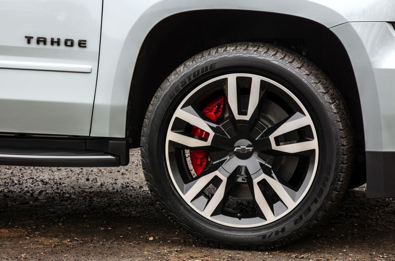 COURTESY CHEVROLET - The special wheels on the 2018 Chevy Tahoe RTS.