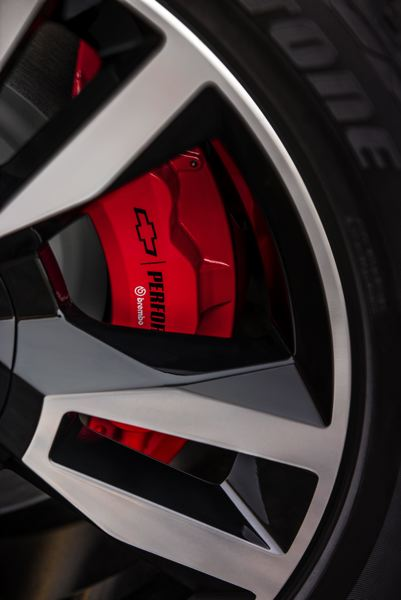 COURTESY CHEVROLET - The dealer-installed Brembo brake package.
