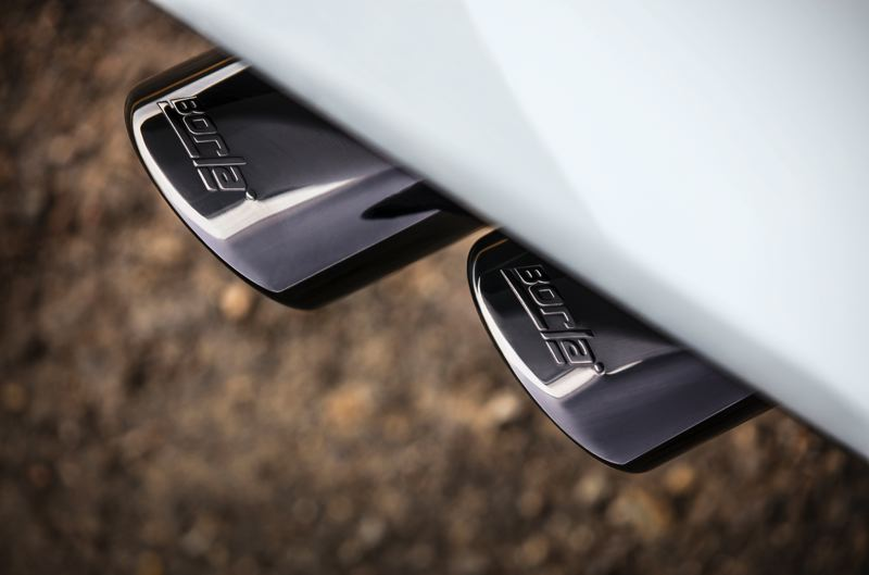 COURTESY CHEVROLET - The dealer installed Borla dual exhaust.