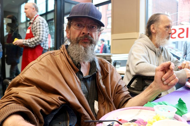 TRIBUNE PHOTO: ZANE SPARLING - Tracy Newton, 57, is staying at the Portland Rescue Mission. His goal right now is 'just survive,' he said.