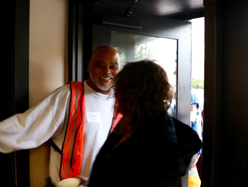 TRIBUNE PHOTO: ZANE SPARLING - Curtis Bogan has volunteered with the Union Gospel Mission for about three years.