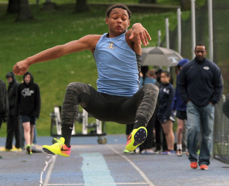 REVIEW FILE PHOTO - Lakeridge junior Andre Martinez should be one the Pacers' better jumpers and sprinters in the 2018 Three Rivers League season after a solid sophomore year.