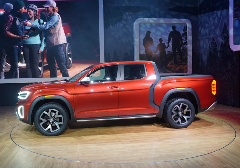 PORTLAND TRIBUNE: JEFF ZURSCHMEIDE - Volkswagen has not decided if the Tanoak pickup will be produced, but it could be manufactured at the company's Chattanooga, Tennessee factory, where the Atlas SUV is constructed.