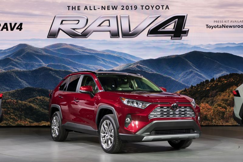 PORTLAND TRIBUNE: JEFF ZURSCHMEIDE - Toyota revealed a revised RAV4 compact SUV for 2019, which may be the most significant launch of the show.