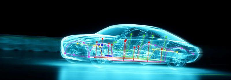 COURTESY: TEKTRONIX - Tektronix has experts focused on developing the solutions needed for car manufacturers to test their latest system designs.  One image represents what the world sees, and the Connected Car Image is what the tech sees.