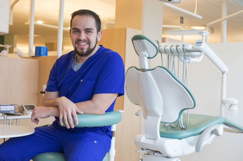 JONATHAN HOUSE/CAPITAL BUREAU - Eddie Ramirez, a dental student at Oregon Health Science University and recipient of Deferred Action against Childhood Arrivals, hopes to work as a dentist in an urban underserved community.