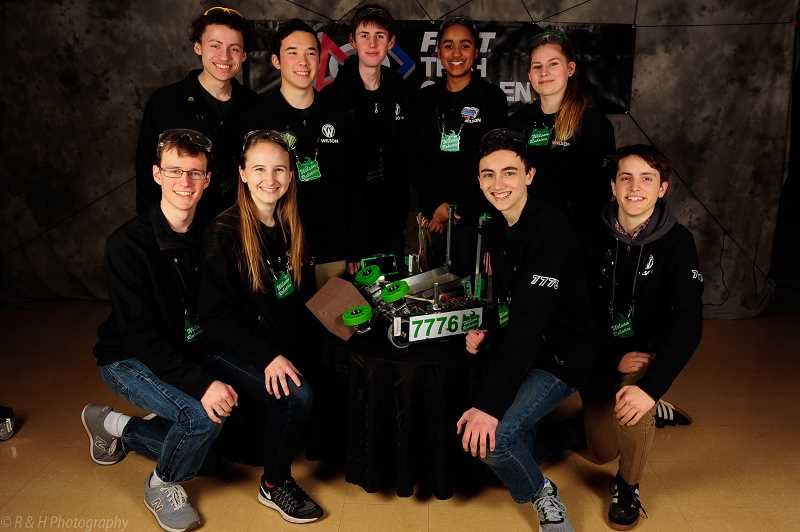 SUBMITTED PHOTO - Loose Screws, a Wilson High robotics team, reaches the world championships for the first time in school history.