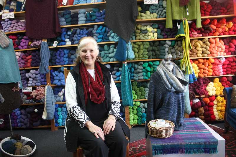 CONNECTION PHOTO: COREY BUCHANAN - Northwest Wools owner Jackie Kraybill has owned the store in Multnomah Village for five years.