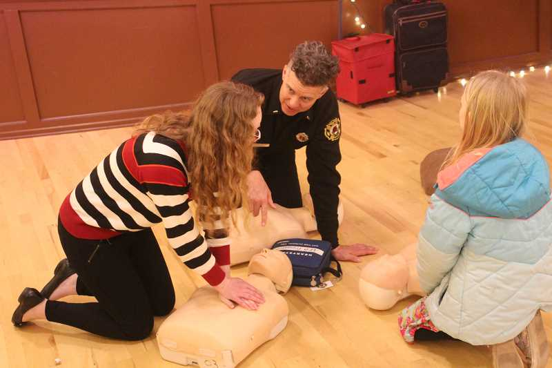 CONNECTION PHOTO: COREY BUCHANAN - The Portland Fire Department provided CPR training at the Emergency Preparedness Fair Sunday, March 4.