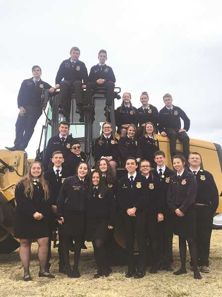 SUBMITTED PHOTO: MACKENZIE BEHRLE - Twenty-two members from the Molalla FFA chapter participated at the state convention March 23-26 in Redmond, Oregon.