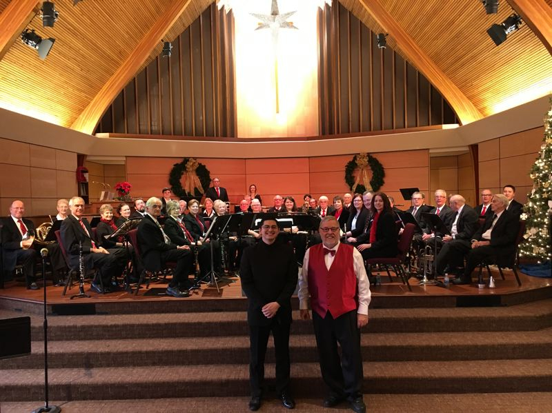 SUBMITTED PHOTO - The Portland Metro Concert Band and the East County Community Orchestra present a joint concert on April 8. Conducting will be Eben Fernando Heldreth, left, and Glenn A. Taylor