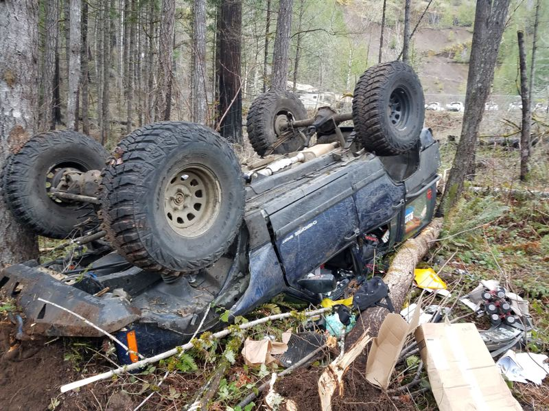 OREGON STATE POLICE PHOTO - Gresham resident Logan OBrien was killed after his Jeep Cherokee flipped several times on March 23.
