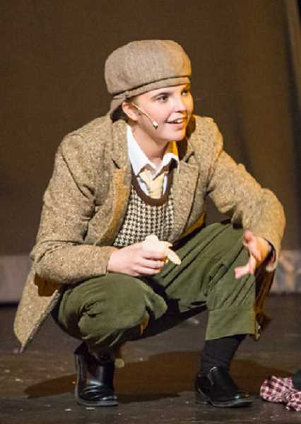 SUBMITTED PHOTO - Nina Heidgerken played Michael Banks in Lakeridge High's production of 'Mary Poppins' this year. 'She said she was so excited to be playing a little boy,' drama teacher Andrew Ballnik said. 'She had so much fun with it and she was great!'