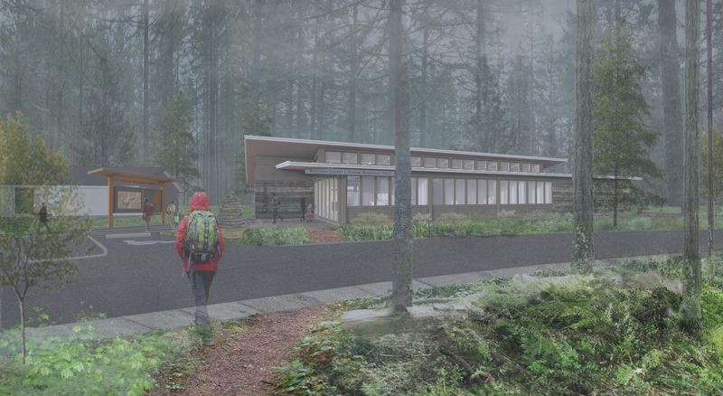 COURTESY DAO ARCHITECTURE - A 2,600-square-foot visitor center will serve the public and five park rangers at Oxbow Regional Park.