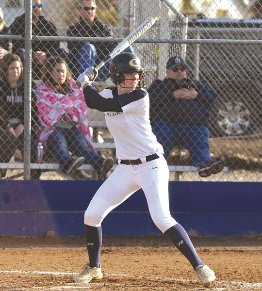 HERALD PHOTO: TANNER RUSS - Senior Cassidy Posey had one hit and one run scored against the Bruins on Monday, April 2.