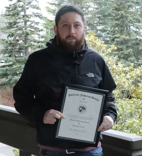CONTRIBUTED PHOTO: MHCC - Mt. Hood Community College fisheries student, Anthony Pedro, got a $2,000 scholarship from the Oregon chapter of the American Fisheries Society.