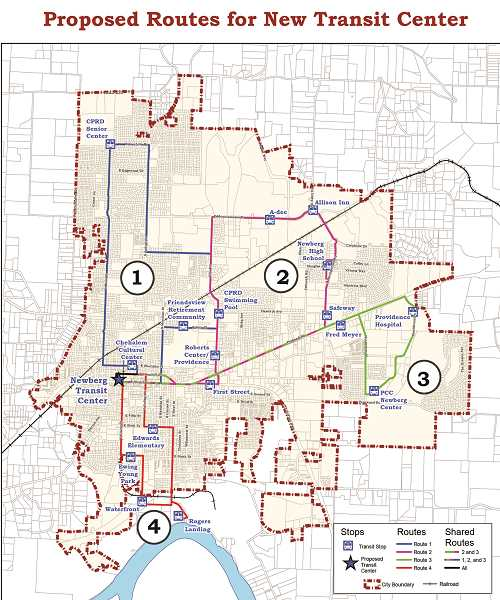 COURTESY OF CITY OF NEWBERG - The county's transit development plan (TDP) is designed to provide strategic guidance to the Yamhill County Transit Area (YCTA).