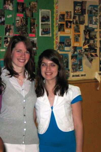 COURTESY PHOTO - St. Mary's teacher Francesca Cronan (left) and student Ariana Garay, pictured during her 2009 Catholic confirmation party.