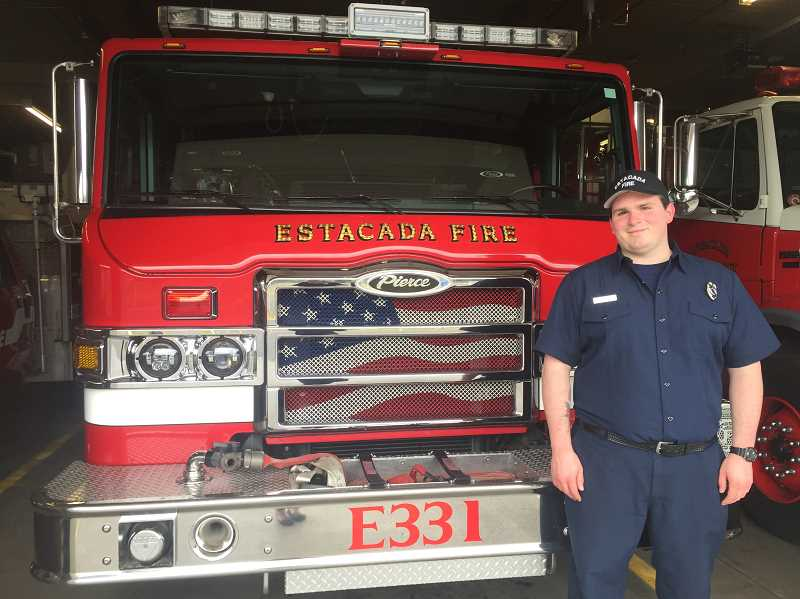 ESTACADA NEWS PHOTO: EMILY LINDSTRAND - Will Heredia began volunteering with the Estacada Rural Fire District last year.