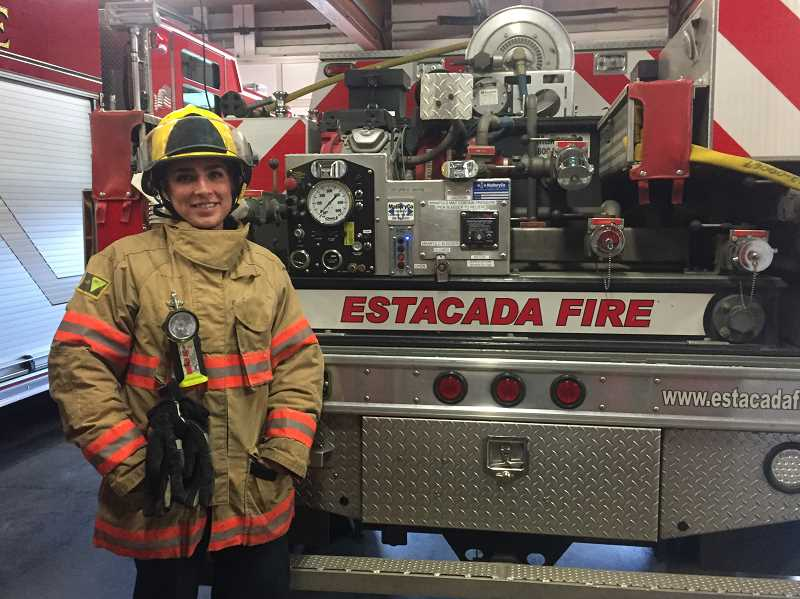ESTACADA NEWS PHOTO: EMILY LINDSTRAND - Emily Poe has been volunteering with the Estacada Rural Fire District since February.