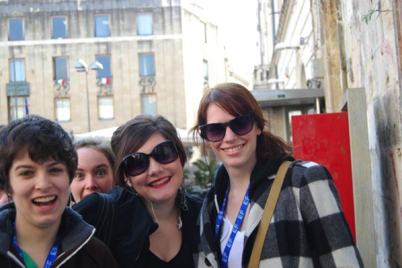 COURTESY PHOTO: ARIANA GARAY - Ariana Garay (left) and Francesca Cronan (right) pose with others during a 2011 trip to Italy. A classmate says she witnessed them together and that story catalyzed the state investigation that resulted in Cronan's teaching license being revoked.