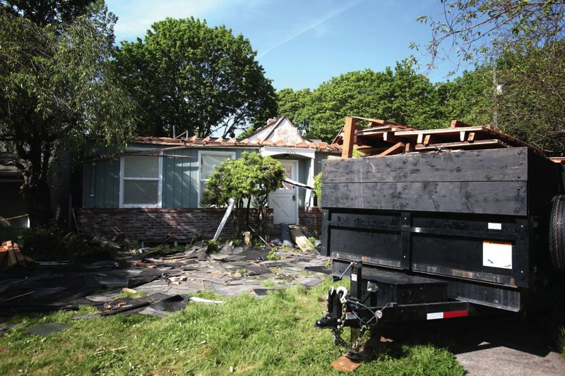 PORTLAND TRIBUNE FILE PHOTO - Maximum size restrictions proposed by the Residential Infill project is expected to slow the demolition of older houses for new McMansions.