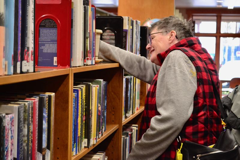 POST PHOTO: BRITTANY ALLEN - The city's first Adult Egg Hunt not only allowed seniors to feel like a kid again for Easter, but get better acquainted with the Sandy Public Library and its programs.