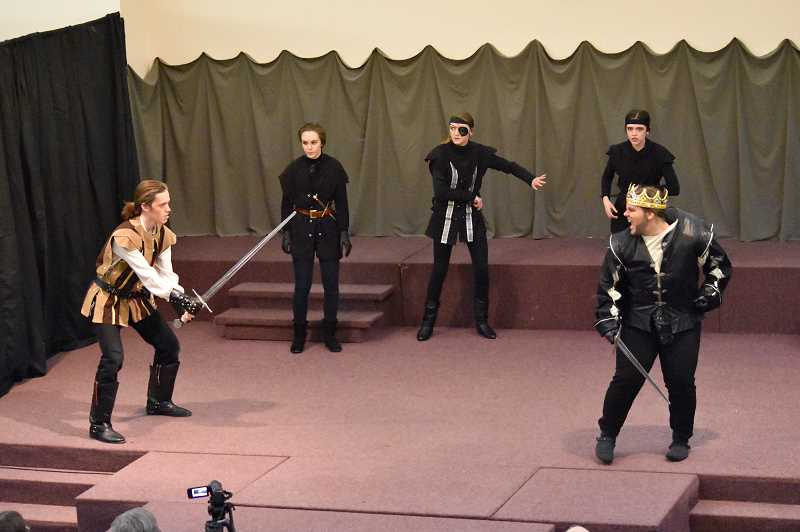 SUBMITTED PHOTO - Leebrick's Shakespeares Greatest Hits group recently performed 'Richard III' and 'Much Ado About Nothing.'