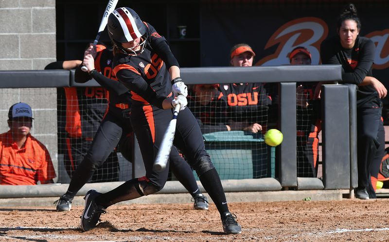 COURTESY OREGON STATE UNIVERSITY - Oregon State junior Michelle Sass, a St. Helens graduate, has been a key utility player for the Beavers, who are aiming for a top-three finish in the Pac-12.