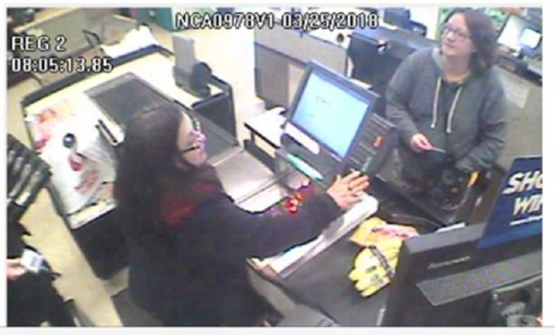 PHOTO COURTESY CALIFORNIA HIGHWAY PATROL - Jennifer Hart was seen on surveillance cameras at a Fort Bragg Safeway store March 25.
