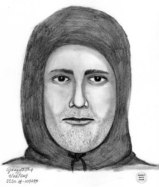 CONTRIBUTED PHOTO: CLACKAMAS COUNTY SHERIFF'S OFFICE FORENSIC IMAGING UNIT - The Sheriff's Office has described the suspect as a thin, 'light-skinned Hispanic' male with a 'bony nose (and) dark-colored eyes.' He appeared to be in his late 20s to 30s, and he was wearing a black hoodie and jeans.