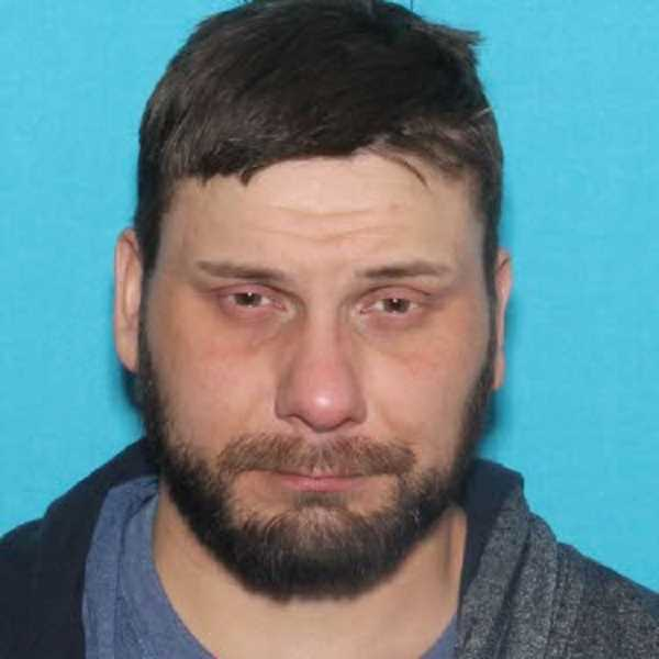 PHOTO COURTESY OF CLACKAMAS COUNTY SHERIFF'S OFFICE - Police are looking for attempted murder suspect Jeramie Thomas, 37, after he reportedly shot Tihan 'Tom' Mamatieff in the neck outside Molalla on Thursday, April 5.
