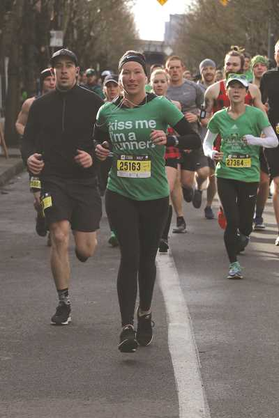 SUBMITTED PHOTO - Autumn Coultas, 31, competed in her fourth Shamrock Run and bested her previous half marathon personal record.