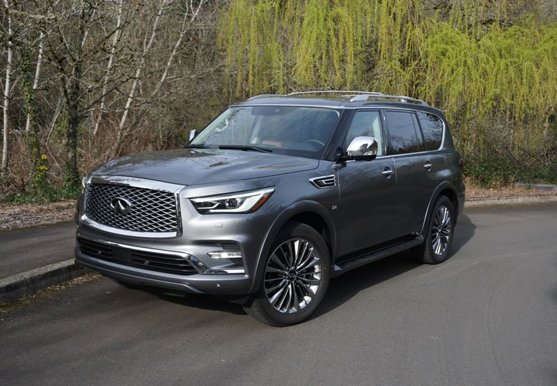 PORTLAND TRIBUNE: JEFF ZURSCHMEIDE - The QX80 drives like the full-size body-on-frame vehicle that it is. The 5.6-liter V8 engine delivers 400 horsepower and 413 pound-feet of torque. Mated with the 7-speed automatic transmission, performance is excellent.