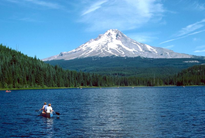 CONTRIBUTED PHOTO: TOM IRACI - Should this popular body of water that is located in the woods just below Mount Hoods western face be called Trillium Lake or Mud Lake?