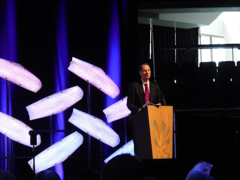 PORTLAND TRIBUNE: JOSEPH GALLIVAN - Oregon U.S. Sen Ron Wyden at TechFestNW in Portland on Friday.