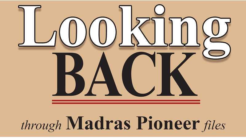 PIONEER LOGO - The Madras Pioneer looks back over the past 100 years.