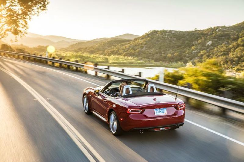 COURTESY FCA - The 2018 Fiat 124 Spider is built for top-down, open-road motoring.