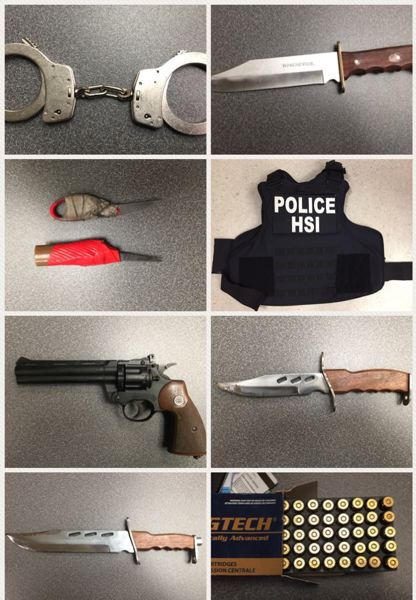 PORTLAND POLICE BUREAU - Evidence recovered from inside a stolen vehicle Sunday.